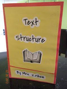 A Teacher's Treasure: Text Structure Fun & Foldable