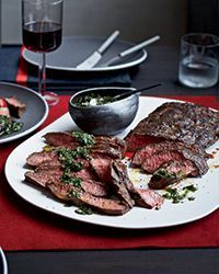 Flat Iron Steaks with Blue Cheese Butter Recipe on Food & Wine