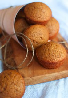 Pumpkin Oat n' Honey Muffins (No flour, no sugar!): just oats, plain nonfat greek yogurt, honey, baking powder, baking soda, pumpkin pie spice, pumpkin, walnuts