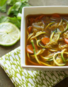If you are looking for a recipe that allows you to step away from heavier, cream-based slow cooker dishes, then this Miso Vegetable Zucchini-Noodle Soup recipe is your next must-make.