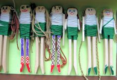 Girl Scout clothespin dolls.