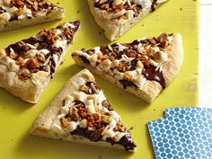 food network, bowl, holiday parties, guy fieri, smore pizza