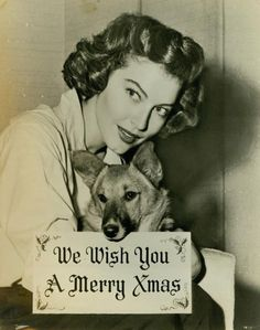 Ava Gardner and her lovely corgi!