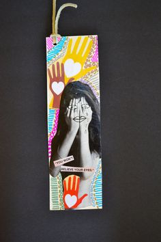 Art Collage Bookmark/Greeting CardIn Love Unique by bluepiedesigns, $4.00