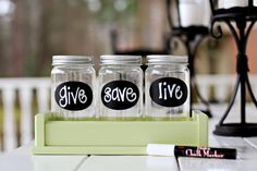GIVE first, SAVE second, and LIVE on the rest.  Great lesson to teach kids about money & a good way to represent it visually.