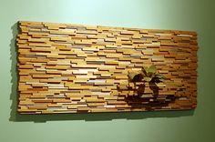 Wood, wall, plant