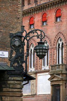 Bologna lantern, street light, italian, streetlight, bologna, lamplight, place, street lamp, italy