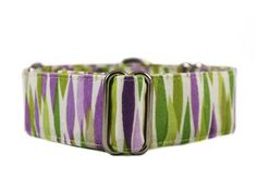These collars dance like flames across this martingale collar