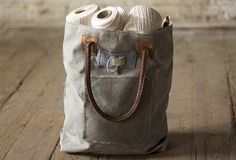 Canvas Bag With Leather Strap | Canvas Totes For Women | Canvas Bag With Leather Trim