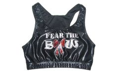 Fear the Bow Cheer Sports Bra by Justcheerbows on Etsy, $25.00