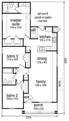 casa estrecha 3 habitaciones