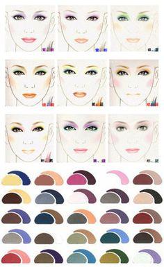 Combinaciones de maquillajes para ojos