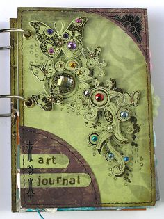 Art Journaling - Jewels on the cover