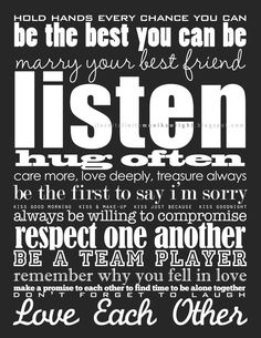 Rules of Love and Marriage  | iloveitall.etsy.com