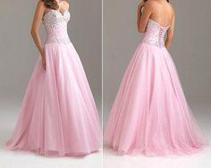 Sweetheart Beaded Bodice Full Length Prom Dress