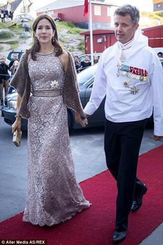Staying stylish: Despite the chill, Princess Mary managed to look elegant at an event with Prince Frederik in the Danish province of Greenland, August 2014.