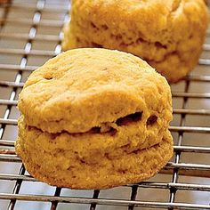 Spiced Pumpkin Biscuits with Orange Honey Butter   CookingLight.com