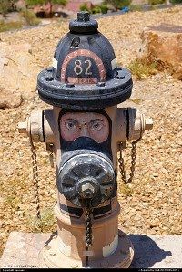 painted fireman fire hydrant