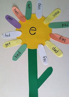 CVC Vowel Flower Activity