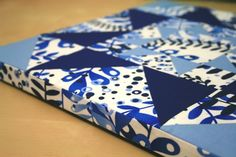How to cover a canvas with a quilt block