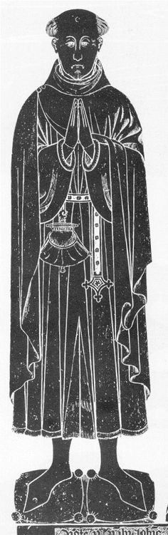 Brass-rubbing of tomb of William Browne, founder of Browne's hospital, Broad Street