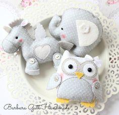 Barbara Handmade ...: Animali in grigia e bianchi craft, toy