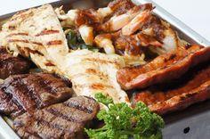 ... wrap scallop, scallop recip, spanish sausag, mix grill, chicken breast