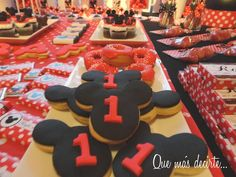 Cookies at a Mickey Mouse Party #mickeymouse #party