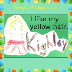 Cute Kinder #Kids make an I Am Special picture! We made the pages into a book.  It easily became a favorite book.  It will be for your kids too!  Enjoy! Wishing Sunshine And Sunny Daz 4 U!