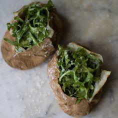 Arugula Baked Potatoes