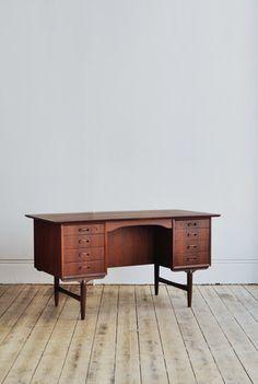 Danish Teak Desk. via The Cools