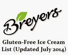 Newly Upated Breyer's #Glutenfree Ice Cream List (July 2014)