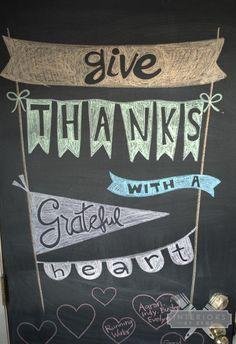 Thanksgiving chalkbo