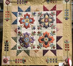 Great Kim Diehl quilt, love the color combo.