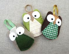 Felt owl ornaments tutorial & template - these are so cute and simple!