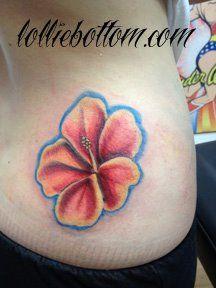 hibiscus tattoo by www.lollie-pop.com  ♡ {tulsa, ok}