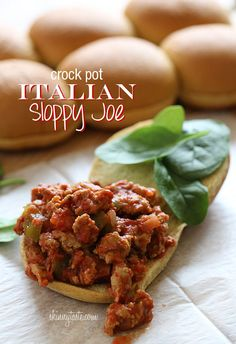 Crock Pot Italian Sloppy Joe - If you want to do this on the stove top, simply simmer in a heavy pot for 30 minutes.