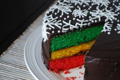 """Italian Rainbow Cookie Cake        makes one 9"""" round layer cake    Ingredients  3 sticks butter, softened  1.5 cups granulated white sugar  6 large eggs  12 ounces of almond paste, grated with a box grater  1 tablespoon cookie cakes, christmas cakes, cooki cake, layer cakes, rainbow cakes, italian rainbow, rainbow cooki, cake recipes, dessert"""