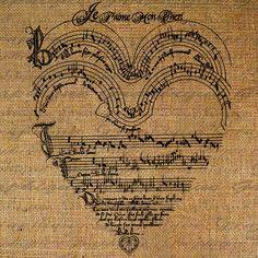 music heart shape