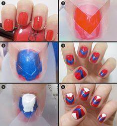 tape nail art
