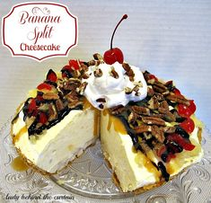 Lady Behind The Curtain - Banana Split Cheesecake