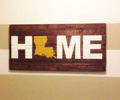 texas style, louisiana home decor, louisiana crafts, diy wooden sign, louisiana signs, louisiana decorations, wooden signs, state decor, wooden state signs