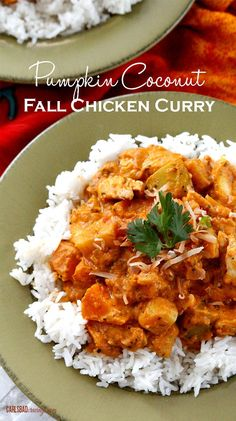 Pumpkin coconut fall chicken curry