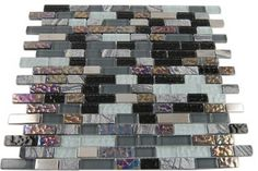 Nimbus Gray Blend Bricks Marble & Glass Tile contemporary bathroom tile