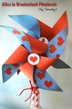 tea parti, girl birthday, alice in wonderland party diy, pinwheels, hatter tea, diy pinwheel, girls birthday parties, wonderland diy, mad hatter