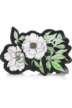 Clematis leather clutch by Christopher Kane