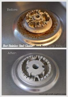 """Creating a Home with Love Logic and Laughter: """"Homemaker's Stainless Steel Cooktop Cleaner Friend"""". Best way to clean stainless steel cooktop!"""