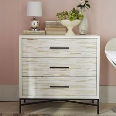 Wood Tiled 3-Drawer