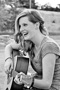 i love her :) #senior #photography #guitar #hippie