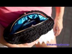 ▶ Cómo hacer un bolso de trapillo redondo - Tutorial crochet XXL - YouTube